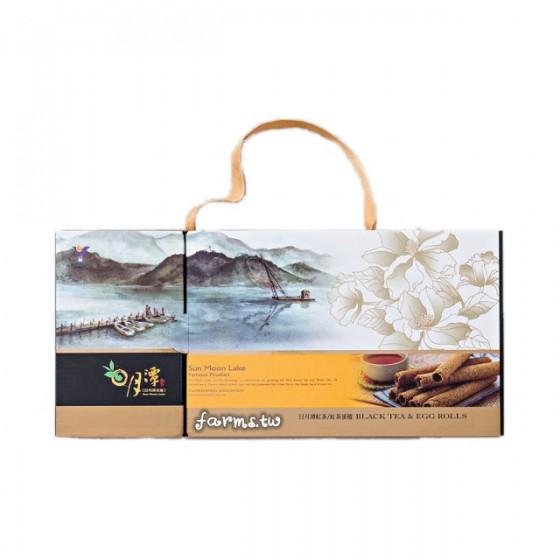 [魚池鄉農會]茶之捲禮盒( 阿薩姆紅茶30g+紅茶蛋捲3包)
