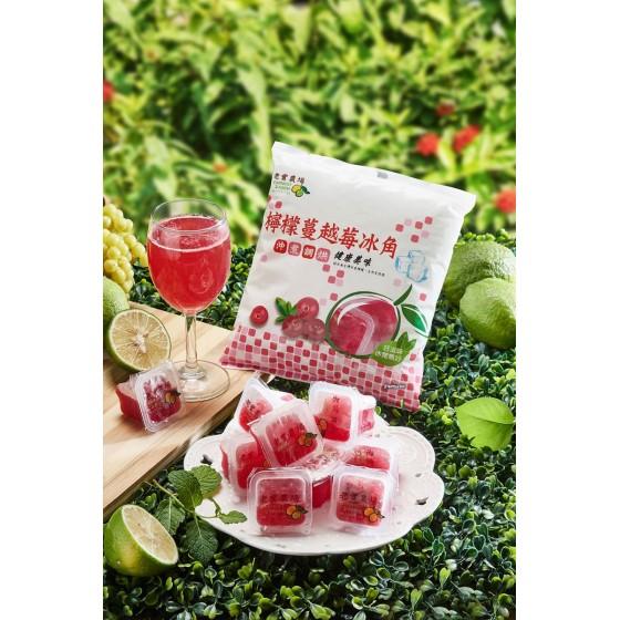 [老實農場] (冷凍商品,勿與常溫一起結帳)(外島無配送)[老實農場] 檸檬蔓越莓冰角(28g*10個/袋)*10袋