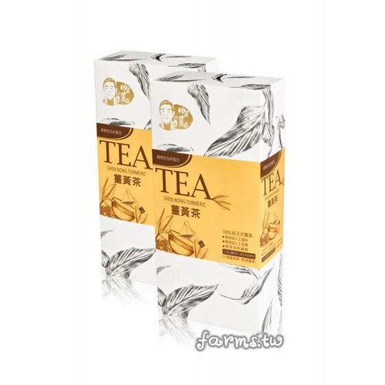 [薑麻園-神農薑麻] 薑黃茶包(2.5g*18小包)*1盒
