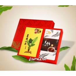 [薑麻園-神農薑麻] 薑南才子~薑黃山藥麵300g*1盒,黑糖竹薑茶(30g*10入)