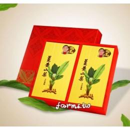 [薑麻園-神農薑麻] 薑山美人~薑黃山藥麵(300g*2入)*1盒