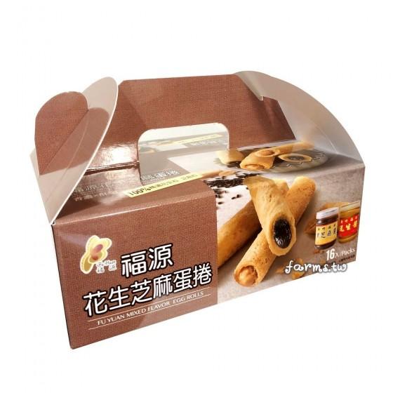 [新竹福源]花生醬芝麻醬蛋捲-320g
