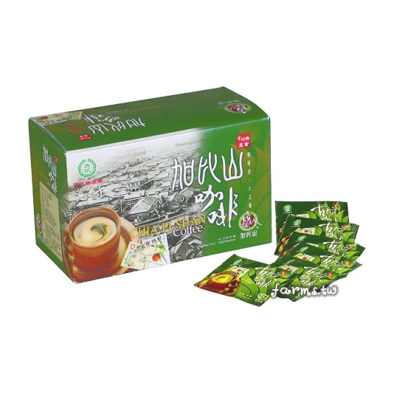 [古坑農會]加比山古坑二合一即溶咖啡(綠盒無糖)-12g*18包