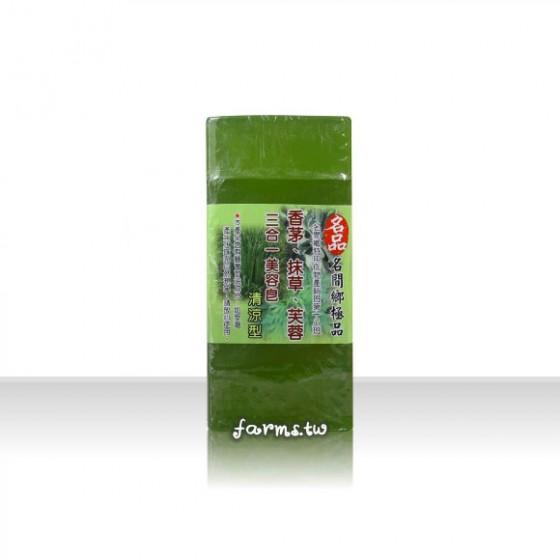 [名品農產行]三合一(香茅,抹草,芙蓉)美容皂500g(內切5塊)