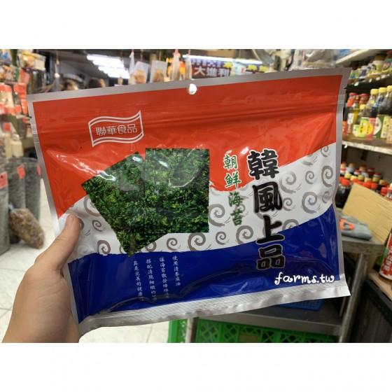 [年貨大街]聯華食品韓風上品海苔(香麻油純素)-30入裝