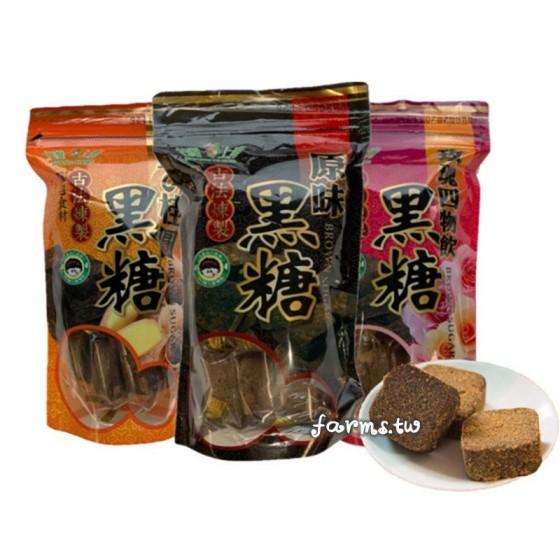 [台灣上青-六種口味任選]養生黑糖塊-180g袋裝